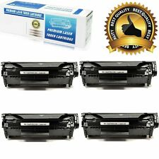 4pack Q2612A Toner Cartridge For HP 12A LaserJet 1010 1012 1018 1020 3030 3020