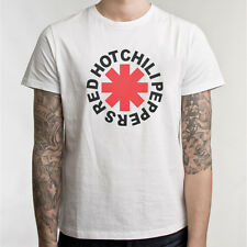 RHCP RED HOT CHILI PEPPERS logo T Shirt The Chili Peppers 100% Cotton