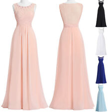 Long Chiffon Cocktail Party Evening Ball Gown Bridesmaid Dress Formal Prom Dress