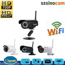 Outdoor Wireless WiFi HD IP Network CCTV Security Camera IR Night Vision Motion