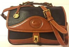 Dooney & Bourke Vintage All Weather Leather Brown Tan Shoulder Bag Handbag EUC