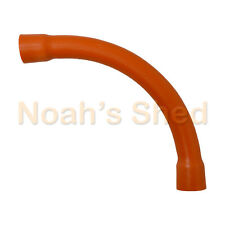 10 x 20mm Orange PVC Sweep Bend Electrical Pipe Conduit Accessories 90 Degree