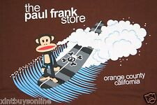 Paul Frank T Shirt The Paul Frank Store Orange County California Brown  Surfing
