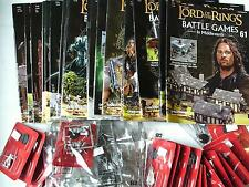 Various Lord of the Rings: Battle Games Magazines with Figures - Multi-listing