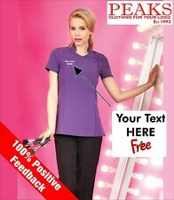 Ladies Beauty Tunic Personalised FREE OF CHARGE, Therapist, Spa, Hair PR683