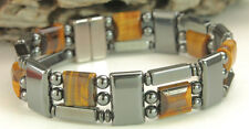 Tiger's Eye Magnetic Hematite Triple Power Bracelet Necklace Free shipping
