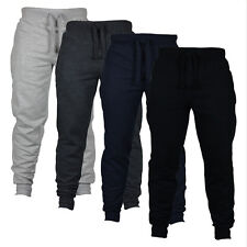 Mens Slim Fit Tracksuit Bottoms Skinny Gym Jogging Sports Sweat Pants Trousers