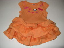 Gymboree Panda Academy Little Girls 3 6 m Orange Panda  Dress NWT *Tiered*