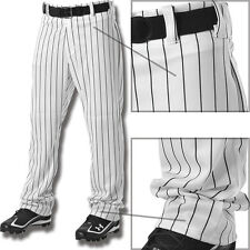 Alleson Youth Boys Relaxed Fit Open Bottom Pinstripe Baseball Pants 605WPNY