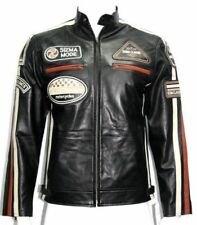 SUPER collection SIZMA BLACK Biker Rider Style Soft classic Real Leather Jacket