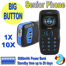 Big Button 5000mHA Power Bank Unlocked Solid Elderly Old People Senior SOS Phone