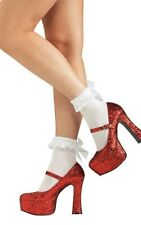 DOROTHY WIZARD OF OZ RED GLITTER SHOES HEELS ADULT WOMENS RUBY SLIPPERS