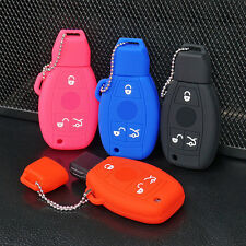 Silicone Key Cover Case For Mercedes Benz Fob Remote Case Smart Key Case protect