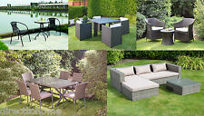 RATTAN EFFECT GARDEN BISTRO PATIO DINNING TABLE AND CHAIRS SET