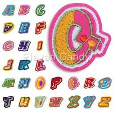 Letter A-Z Alphabet Ebroidered Applique Iron On Sew Motif Patch DIY Accessories