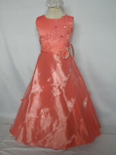 New Girl National Pageant Wedding Easter Formal Party Dress 4 6 8 10 Coral Red