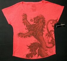 Game Of Thrones LANNISTER HOUSE SIGIL Dolman Women's T-Shirt NWT Licensed