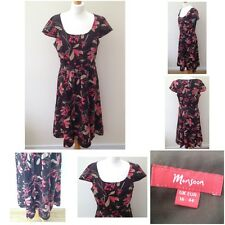 Monsoon - Brown - Floral Cap Sleeve Party Summer Dress - Size 16