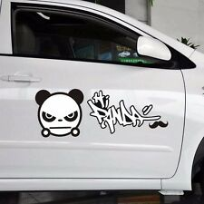 2pcs Fighting Angry Panda Side Door Eyelids Random Body Wall Decal Car Stickers