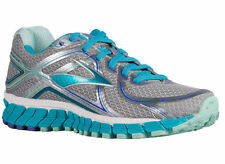 NEW WOMENS BROOKS ADRENALINE GTS 16 RUNNING SHOES TRAINERS SILVER / BLUE XWIDE
