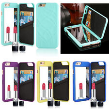 Luxury Flip Card Wallet PU Leather Mirror Case Cover For iPhone 6/6 Plus 5 5S/SE