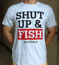 """Adult & Teenager Funny Naughty T-shirt """" SHUT UP & FISH """" All Size Available"""
