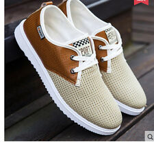 Casual Men's Fashion Khaki Lace Up Beathable Athletic Sports Sneakers Shoes Sz