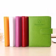 PU Leather Notebook Schedule Weekly Monthly Planner Diary Journal Note Memo #Y5