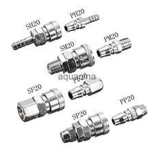 Stainless Steel Air Line Hose Compressor Fitting Connector Coupling Coupler