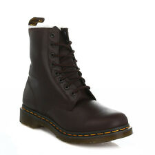 Dr. Martens Serena Womens Dark Brown Leather Faux Fur Ankle Boots Lace Up Casual
