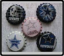 Dallas Cowboys Scrapbooking Crafts Bottle Caps Set #1 - Flattened/Non Flattened