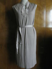 New w/tags Gap Wome's Beige 100% Rayon  Belted Sleeveless Dress Sz Medium, Large