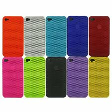 NEW STYLISH SLIM FUNKY HARD MESH CASE COVER FOR APPLE IPHONE 4 4S + FREE SCREEN