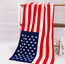 NEW Printed National American England Flag Bath Towel Cotton Soft Beach Towel
