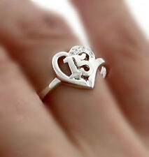 Quinceanera Ring  15 in Sterling Silver - Size 6, 7, 8 , 9