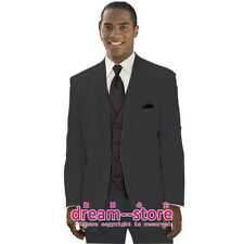 CUSTOM MADE Mens Black Bridegroom Groomsman Tuxedo Suit Pants Wedding Dress