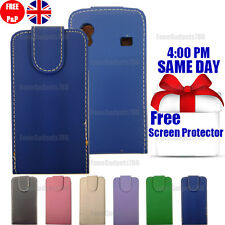 LEATHER FLIP CASE COVER & FREE SCREEN PROTECTOR FITS Samsung Galaxy Ace S5830