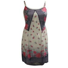 NEW xM&S Pretty Dusky Pink & Blue Floral Print Chiffon Strappy Sun Dress RRP £35