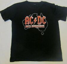 ACDC AUSTRALIAN TOUR 2010 BLACK ICE BACK DOWNUNDER ADULT MENS CONCERT TSHIRT