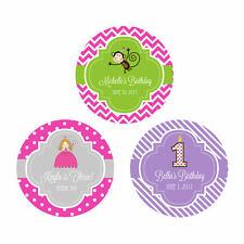 Custom Personalized Round Kid Child Birthday Party Favor Labels Stickers Q21119