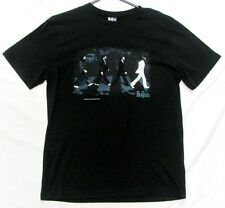 THE BEATLES ABBEY ROAD COVER BLACK TSHIRT T-SHIRT SHIRT MEMORABILIA MENS ADULT
