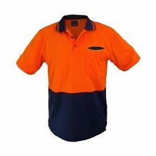 V8 SUPERCARS TRADIE GEAR ORANGE NAVY POLO SHIRT SHORT SLEEVE MENS