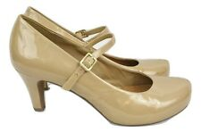CLARKS Wide Fit Court Shoes Beige Size 8 Evening Party Office Summer Everyday