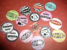 Pre Cut One Inch  DADDY DRIVES A TRUCK Bottle Cap Images! FREE SHIP
