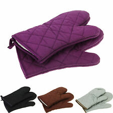 100%Cotton Thick Double Kitchen Baking Cook Insulated Padded Oven Glove Mitt A1.