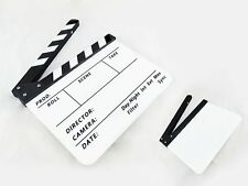 30*25cm Video Scene Acrylic Clapperboard TV Movie Clapper Board Film Slate Cut