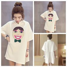 Hot Women Loose Short Sleeve Chiffon Casual Blouse Shirt Tee Tops Blouses Dress
