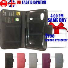 FLIP WALLET LEATHER CASE COVER & FREE SCREEN Guard FOR Galaxy Ace S5830