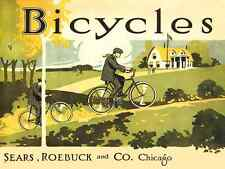 1914 Sears Roebuck & Co. - Vintage Bicycle Poster - Cycling