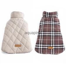 Pet Dog Puppy Waterproof Plaid Jacket Coat Winter Warm Clothes Size XS-XXXL